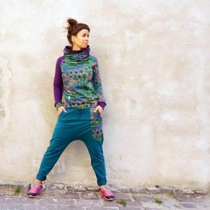 spodnie baggy - Pawie Pióra